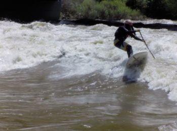 River surfing Glenwood Spring 16000 CFS