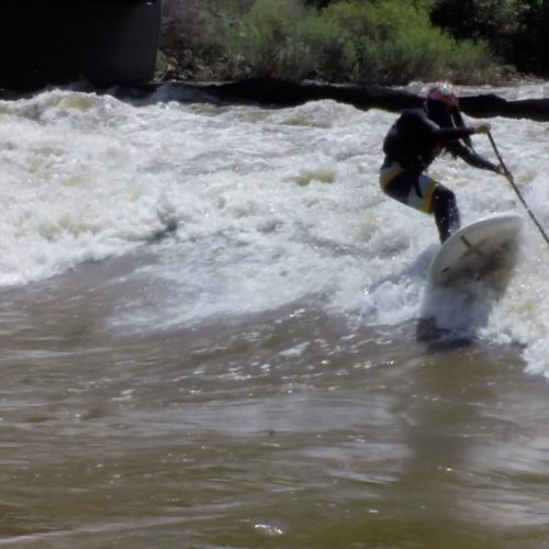 River surfing Glenwood Spring 16000 CFS