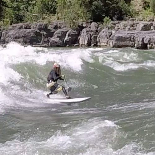 SUP river surfing Lunch Counter
