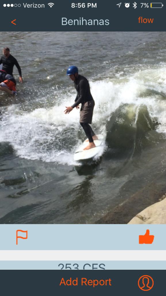 River Surf Report Screenshot